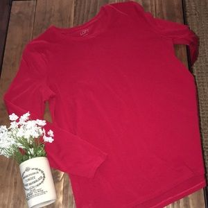 Red loft long sleeve cotton tee // size large